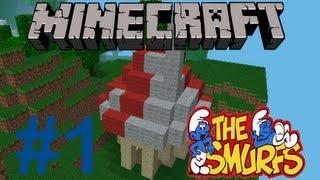Minecraft PE : How to create a Smurf House (Comment construire une maison de Schtroumpf)