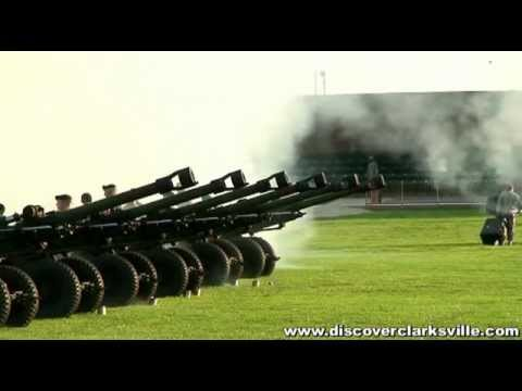 50 gun salute at the 2011 Fort Campbell Independence Day Celebration