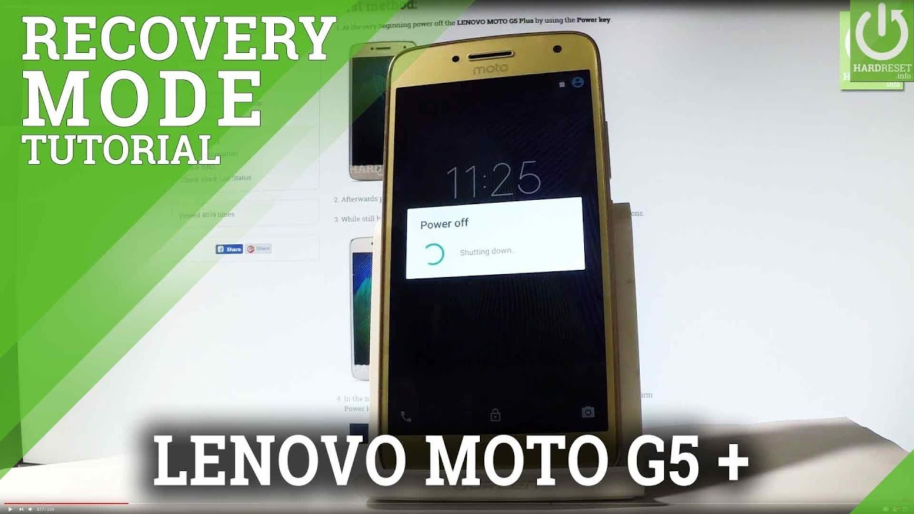 Recovery Mode MOTOROLA Moto G5S Plus - HardReset info