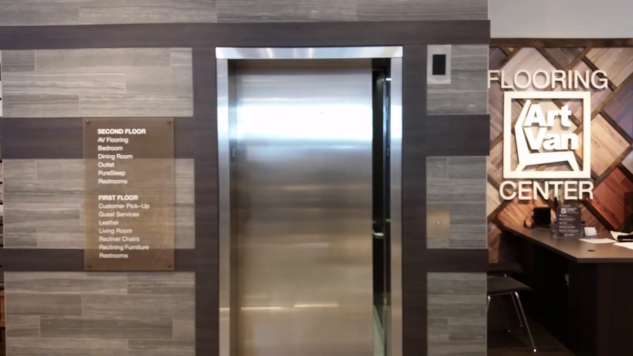 1st In Mi Brand New Otis Hydrofit Mrl Hydraulic Elevator At Art Van Furniture Canton
