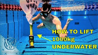 How to lift heavy objects underwater with a air bag - Lift 1000 kg with ease