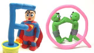 PLAY DOH SUPERHERO BABIES LEARNS ABC - Cartoons Animation Stop Motion