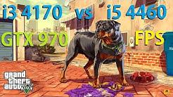 i3 4170 vs i5 4460 | GTX 970 GTA 5 CPU TEST 4K VIDEO