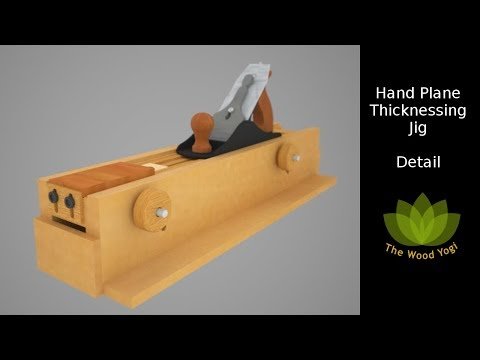Detail Of My Hand Plane Thicknessing Jig - Woodworking Tool