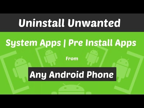 How To Uninstall Pre-installed Apps On Android Phone | Root Required |