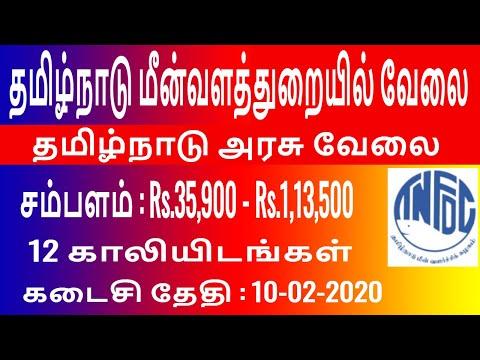 Tamil Nadu Fisheries Development Corporation Limited Assistant Manager Job 2020   Tn Govt Job