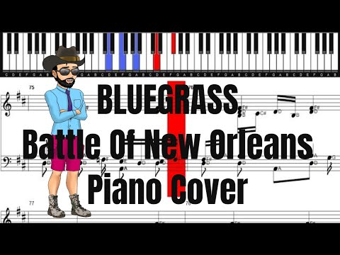 Bluegrass Battle of New Orleans Piano Cover | Piano Sheet