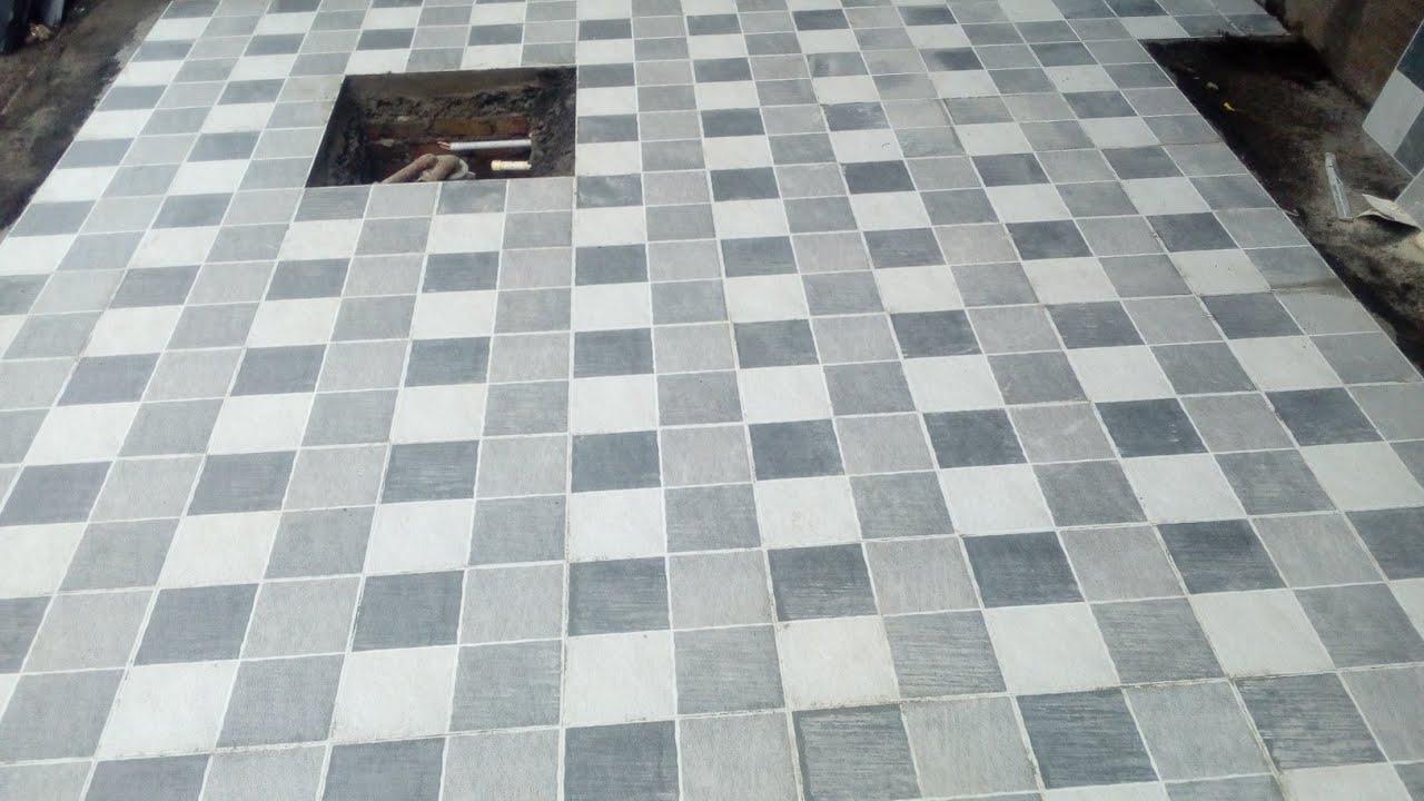 Parking Floor Tiles Digital Design India Fhiting Work Idea Youtube