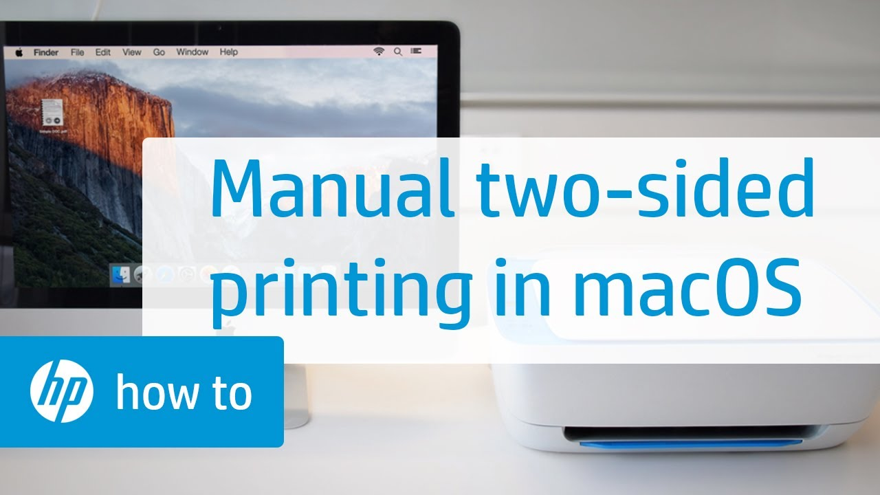Manual Two-Sided Printing on HP Printers from a Mac Computer | HP Printers  | HP