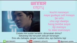 LIRIK WINNER - EMPTY [LIRIK KOREA, INDONESIA & MV]