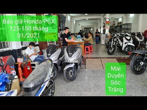 Giá Honda PCX125-150 mới nhất tháng 01/2021 tại cửa hàng Mai Duyên Sóc Trăng