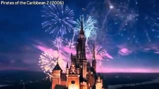 Lâu đài Disney qua từng giai đoạn- Walt Disney catles logo collection