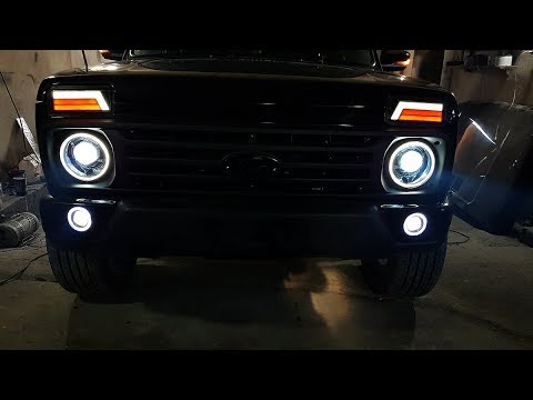 TUNING Niva Urban 4X4! Install The Angel's Eyes On The Niva Urban 4X4 With Your Hands