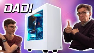 SURPRISING MY DAD With A Gaming PC Build & Setup for 2019! | #AD