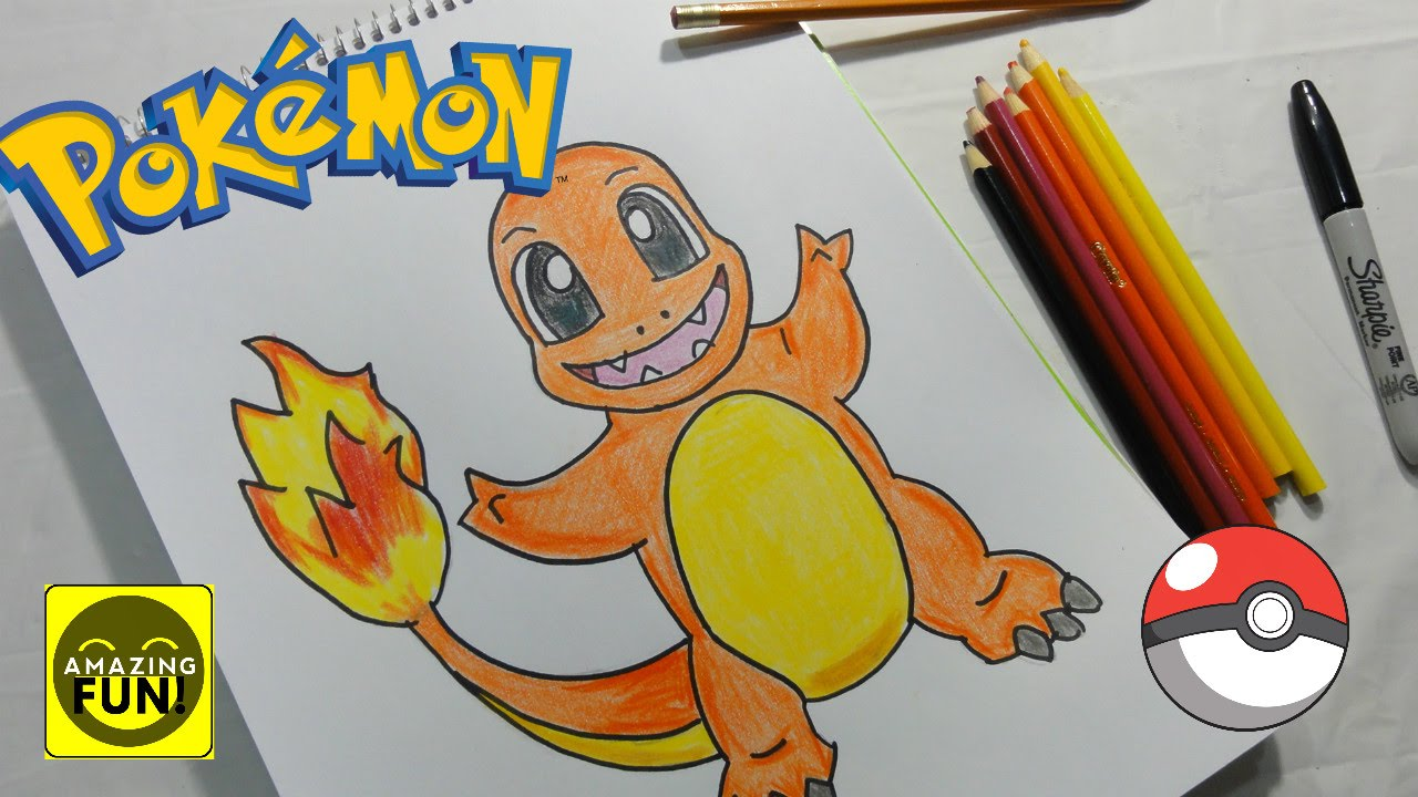 Dibujos De Pokemon A Color: Pokémon GO Cómo Dibujar A Charmander