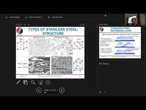 Corrosion of stainless steel in marine applications: Factors that influence performance Mike Lewus