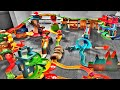 MAGIC TRACKS TOYS CHALLENGE! GIANT RACE TRACK! Light up Cars! Lots of Crashes