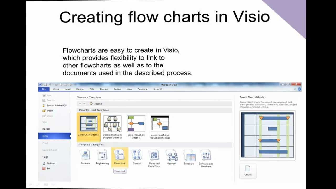 Visio 2010 - Creating Flowcharts - YouTube