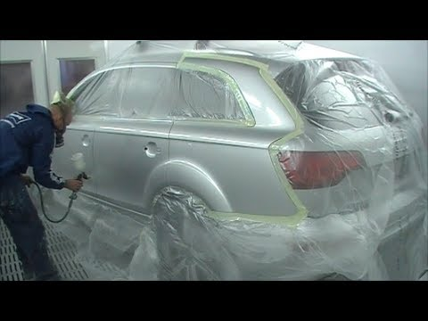 Professional Spray Painting Tutorial Audi Q7 Quattro 3.0 TDI