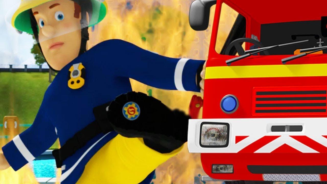 Sam El Bombero En Espanol Camión De Sam El Bombero 5 Episodios Dibujos Animados Para Niños