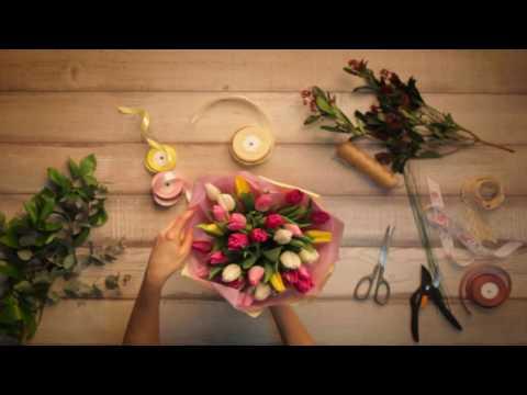 💐Букет Амстердам | Купить букет из тюльпанов Киев