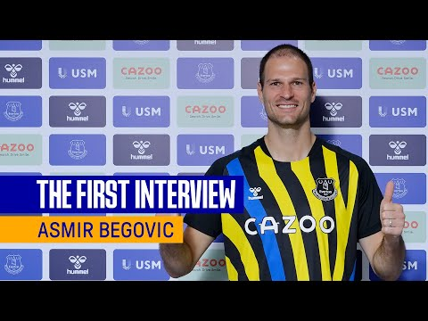 ASMIR BEGOVIC SIGNS FOR EVERTON | FIRST INTERVIEW WITH NEW BLUES GOALKEEPER