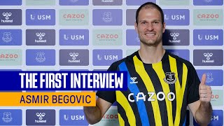 ASMIR BEGOVIC SIGNS FOR EVERTON   FIRST INTERVIEW WITH NEW BLUES GOALKEEPER