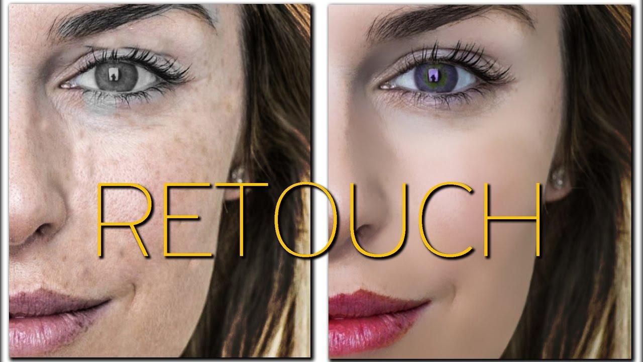 Photoshop facial retouch