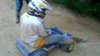 me riding down the big hill on the power wheels