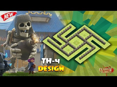Town hall - 4 { Th-4 } Ultimate Farming Base #2018 | Clash of Clans