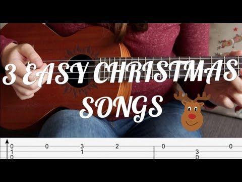 3 Easy CHRISTMAS Songs for Fingerstyle UKULELE (Tutorial)