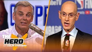 Download Colin discusses Adam Silver's pro-player missteps & how KD's decision reflects them | NBA | THE HERD Mp3 and Videos