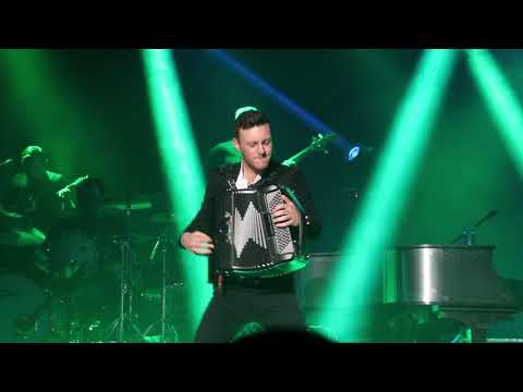 Nathan Carter playing the accordion with his Band - Live - Kings Lynn 2017