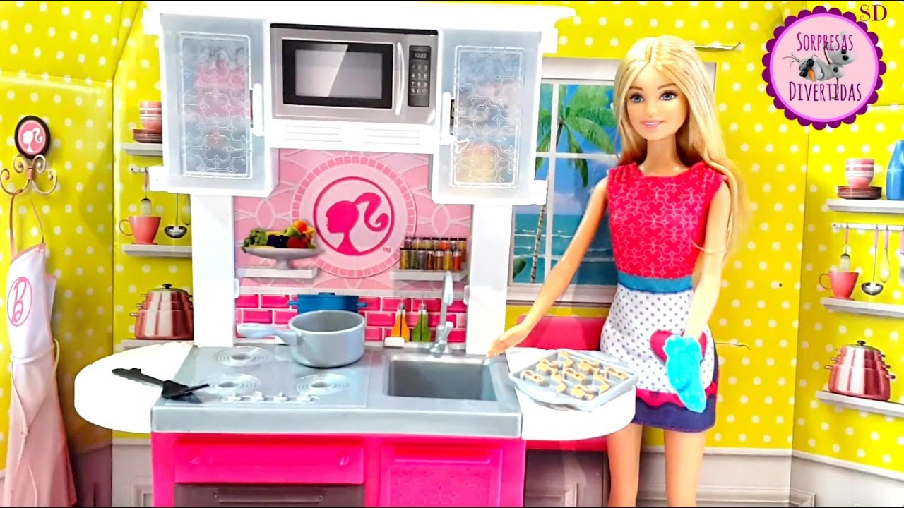 la cocina de barbie youtube