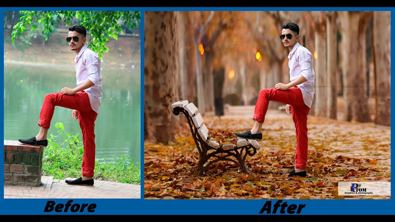 Photoshop CC - Background Change and Photo Retouch Tutorial - August 2016 - YouTube