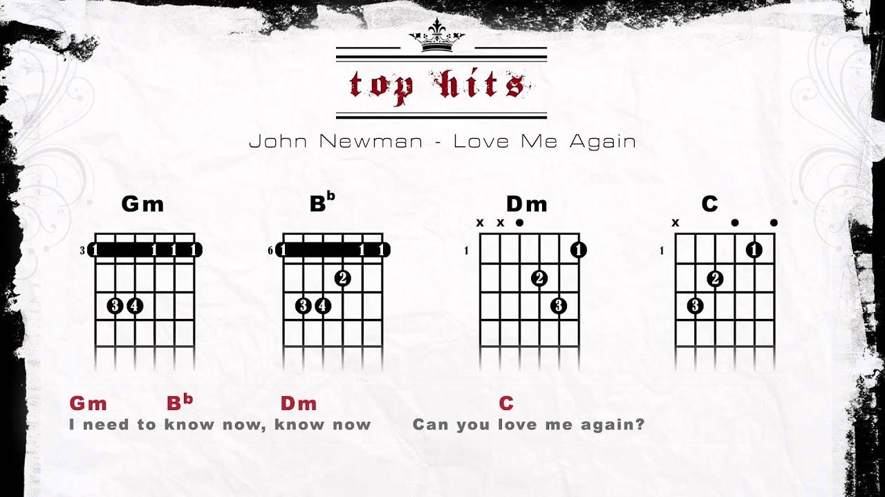 John Newman Love Me Again Lyrics Chords Guitar Tabs Youtube