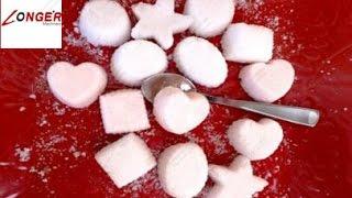 How to Make Cube Sugar|Sugar Cubes? Coffee Sugar Making Machine