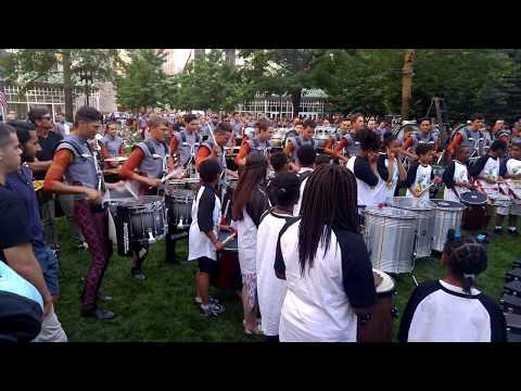 Boston Crusaders Percussion jams with Hyde Park kids