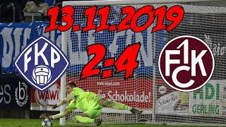 FK Pirmasens 2:4 1. FC Kaiserslautern – 13.11.2019 – Sieg durch Elfmeterschießen