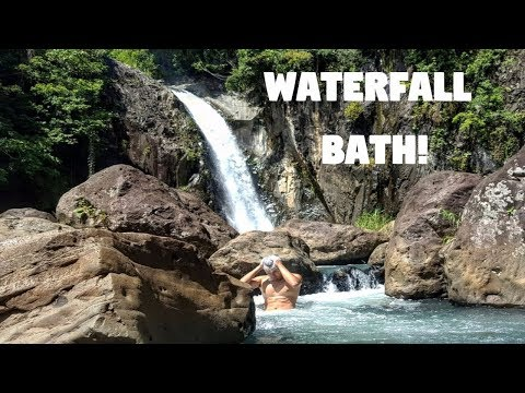 WHEN YOUR HALF FILIPINO FRIEND TAKES A WATERFALL BATH (Biliran Province, Philippines)