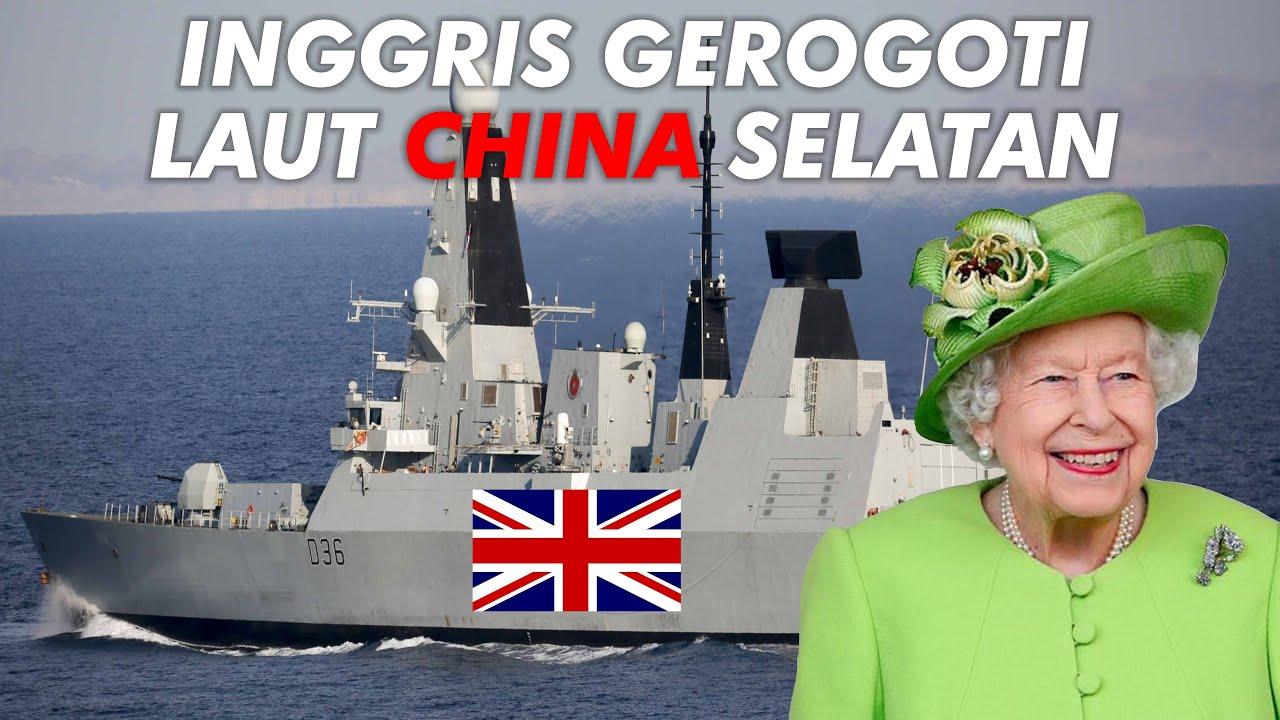 TAK MAU TUNDUK DENGAN CHINA!! DESTROYER INGGRIS HMS DEFENDER SEROBOT LAUT CHINA SELATAN