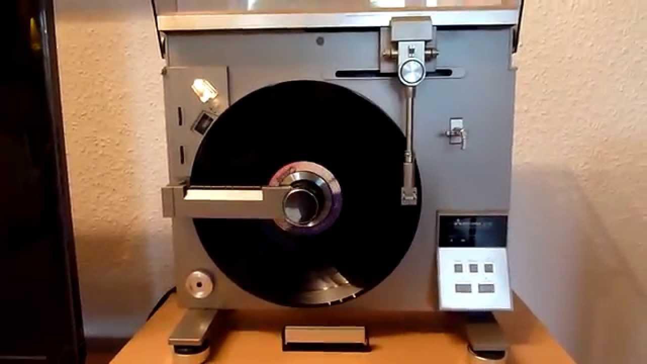 Hochkant Plattenspieler Vertical Turntable Mitsubishi Lt 5v