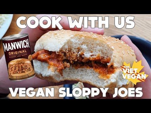 MANWICH IS VEGAN?! // VEGAN SLOPPY JOES // Cook With Us