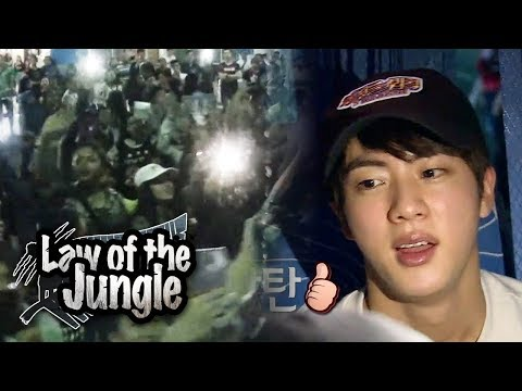Have You Seen So Many Fans Gather at the Airport? [Law of the Jungle Ep 247]