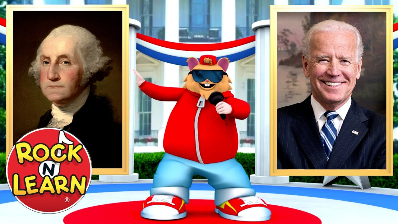 U S Presidents Song For Kids Washington To Biden Learn The Presidents Inauguration Year Youtube