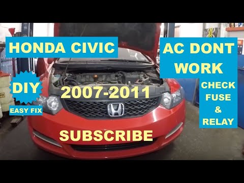 How To Fix AC On 2007-2011 Honda Civic DIY Check Fuse And Relay