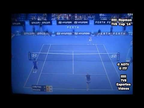 Alize Cornet / Jo-Wilfried Tsonga vs Petra Kvitova / Radek Stepanek - Hopman Cup 14 - Set 2