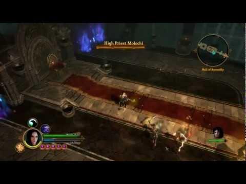 Dungeon Siege III l Katarina l   High Priest Molochi Boss HD7850 HD