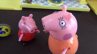 Peppa Pig in italiano. Peppa Pig incontra Giorge nella stazione ferroviaria. Peppa e Giorg