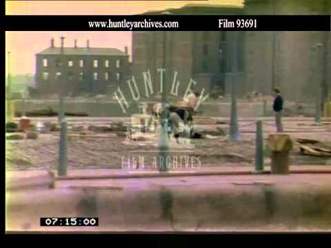 Regeneration of Liverpool, 1980's.  Archive film 93691